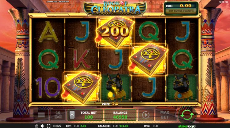 Book of Cleopatra slot review bonus trigger