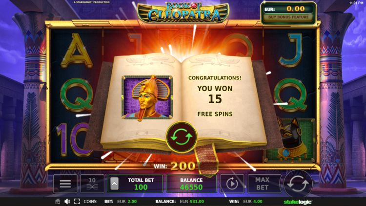 Book of Cleopatra slot review bonus win