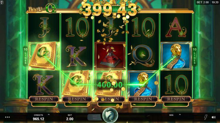 Book of Oz slot review bonus trigger