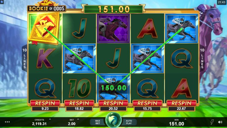 Bookie of odds slot review Microgaming