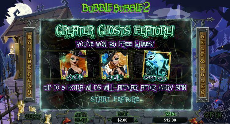 Bubble Bubble 2 Real Time Gaming bonus trigger