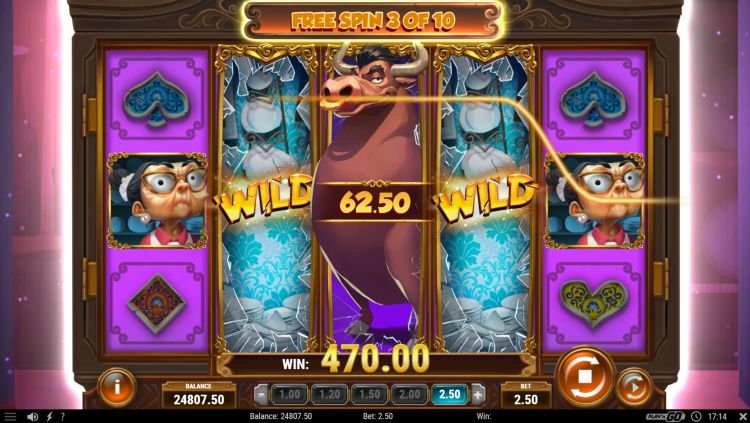 Bull in a china shop slot review free spins big win