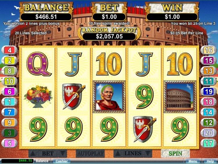 Caesars Empire pokie review bonus trigger