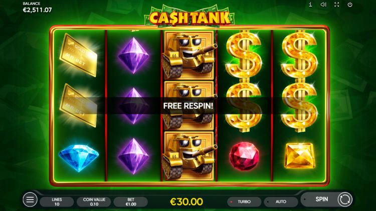 Cash tank slot endorphina respin