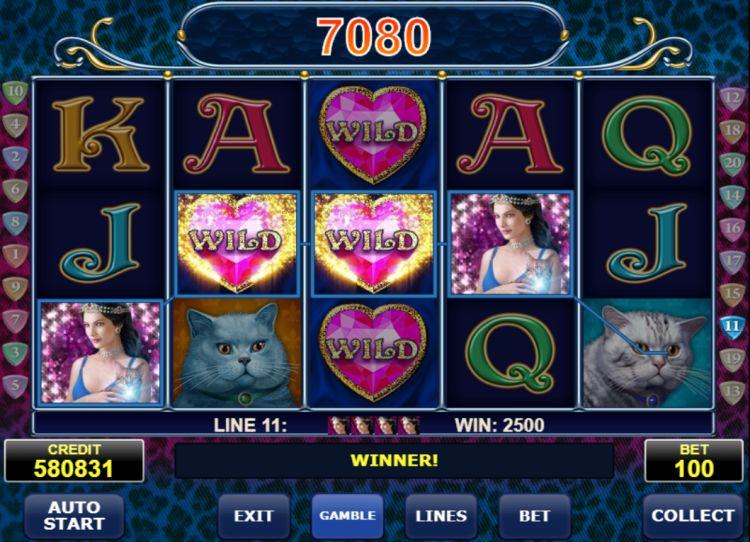 Diamond cats amatic super big win