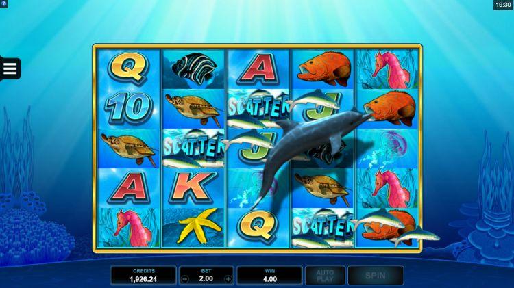 Dolphin Coast slot microgaming bonus trigger