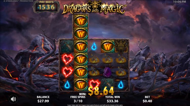 Dragons and magic slot review stakelogic free spins