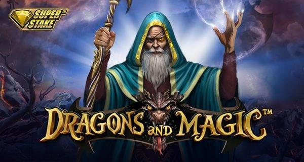 Dragons and magic slot review stakelogic logo