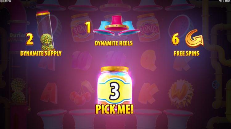 Durian Dynamite Quickspin bonus pick 2
