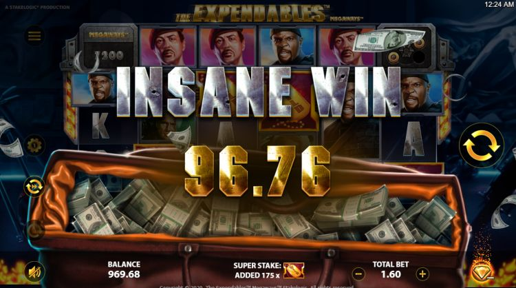 Expendables megaways slot review stakelogic wilds