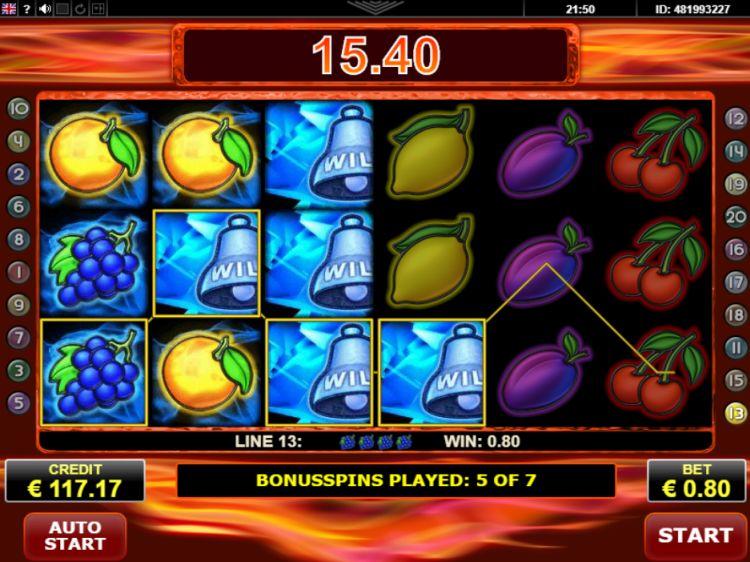 Fire and Ice slot amatic bonus win