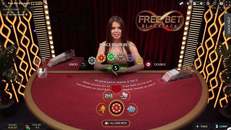 Free Bet Blackjack review Evolution Gaming