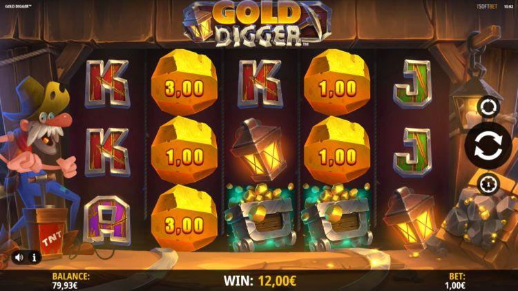 Gold Digger isoftbet slot bonus win