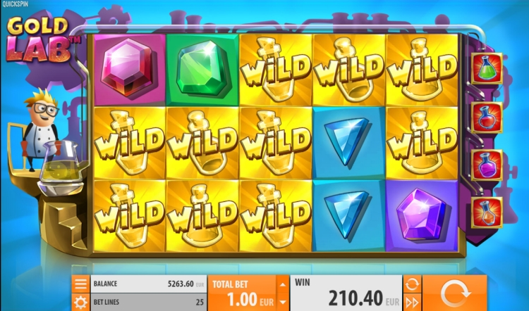 Gold Lab quickspin slot big win