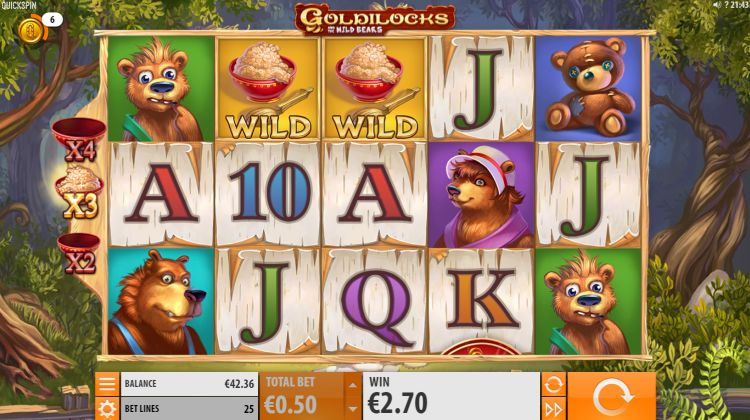 Goldilocks and the Wild bears quickspin