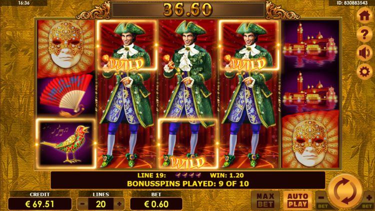 Grand Casanova slot amatic bonus win