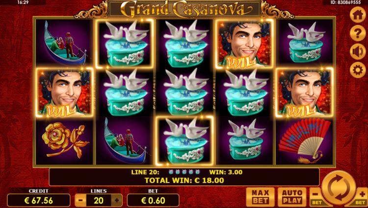Grand Casanova slot amatic win