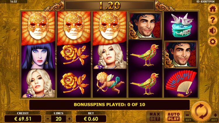 Grand Casanova slot amatic bonus trigger