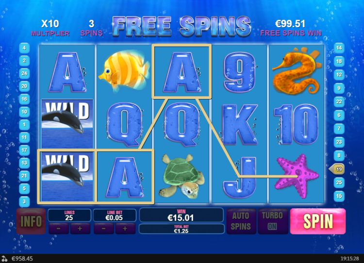Great Blue slot review free spins