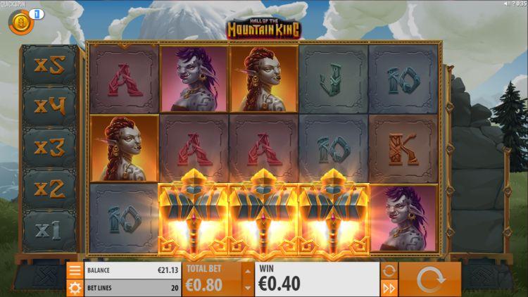 Hall of the mountain king slot quickspin bonus trigger