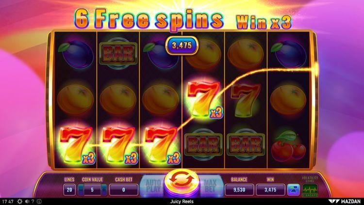 Juicy Reels slot wazdan review big win