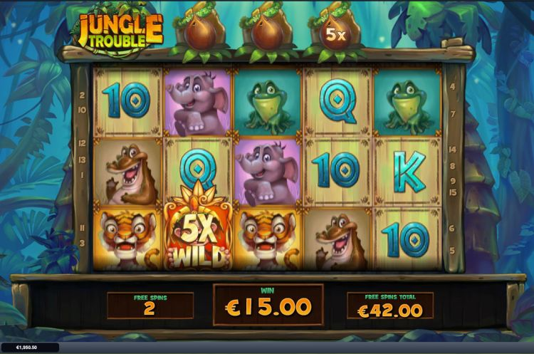 Jungle Trouble slot playtech bonus big win