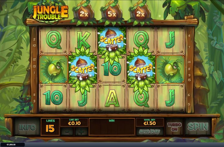 Jungle Trouble slot playtech bonus trigger