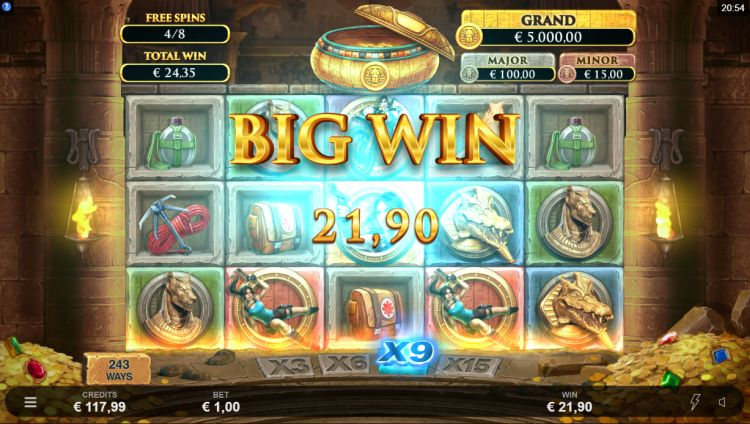 Lara Croft temples and tombs microgaming free spins