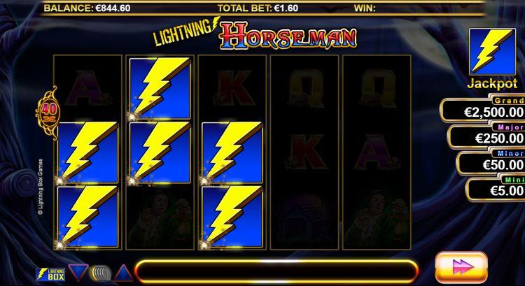 Lightning Horseman bonus trigger