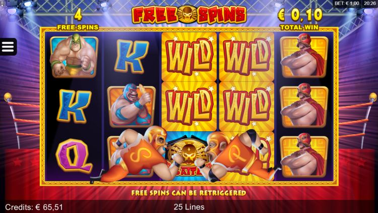 Lucha Legends slot review free spins