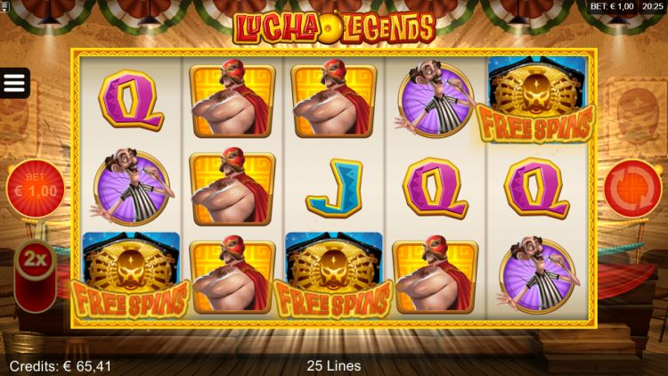 Lucha Legends slot review microgaming free spins trigger