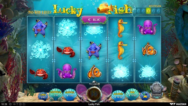 Lucky Fish online slot review Wazdan