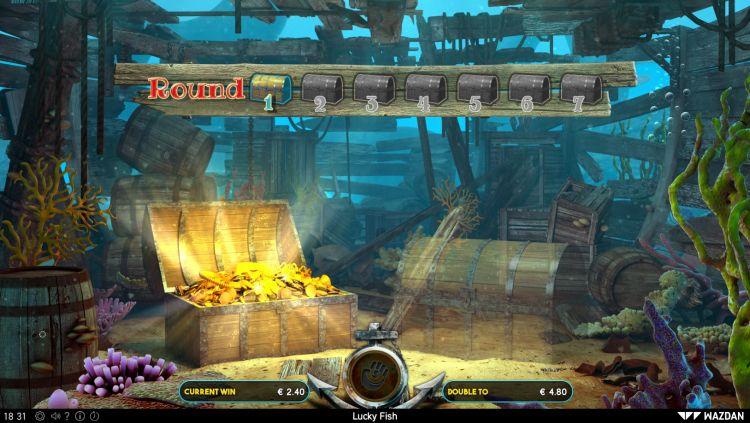 Lucky Fish slot review Wazdan gamble feature