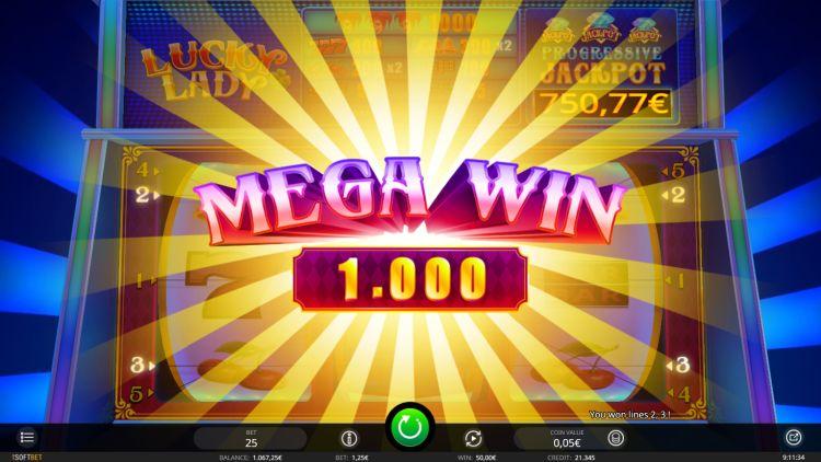 Lucky Lady isoftbet mega win