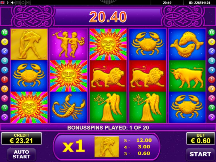 Lucky Zodiac Amatic bonus feature