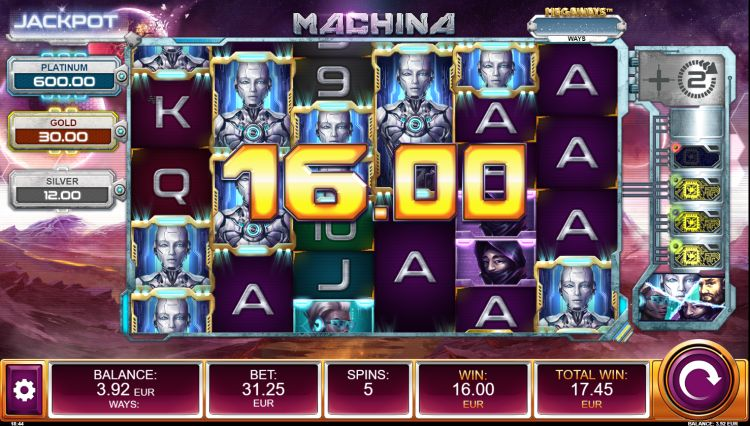Machina megaways slot review relax gaming win
