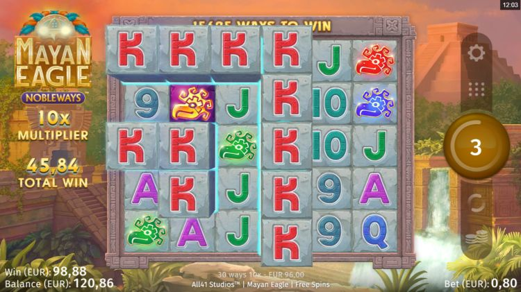 Mayan Eagle slot review mega win bonus