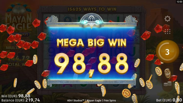 Mayan Eagle slot review mega win