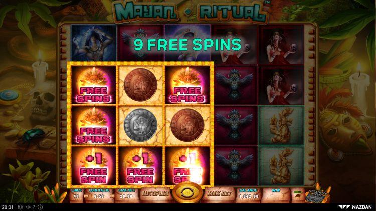 Mayan Ritual slot review bonus trigger