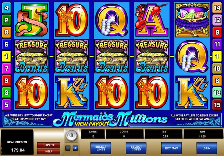 Mermaids Millions Microgaming bonus trigger 2