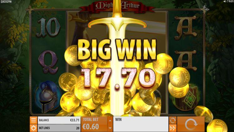 Mighty Arthur Slot quickspin big win