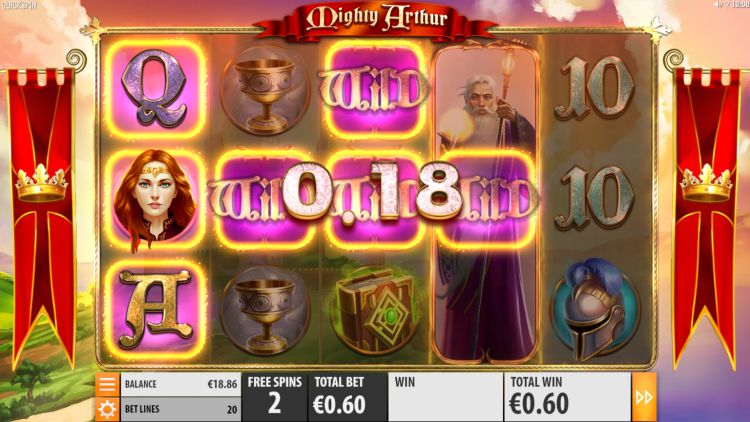 Mighty Arthur Slot quickspin free spins bonus