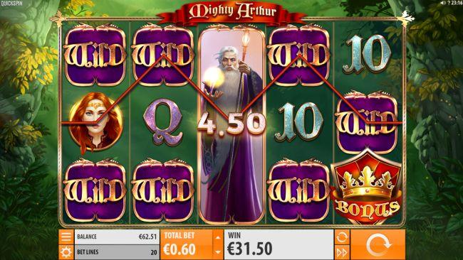 Mighty Arthur Slot quickspin super big win