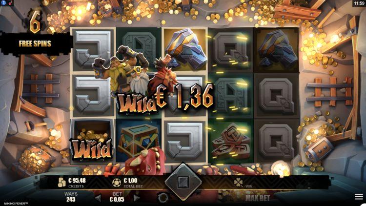 Mining Fever slot review Rabcat bonus win