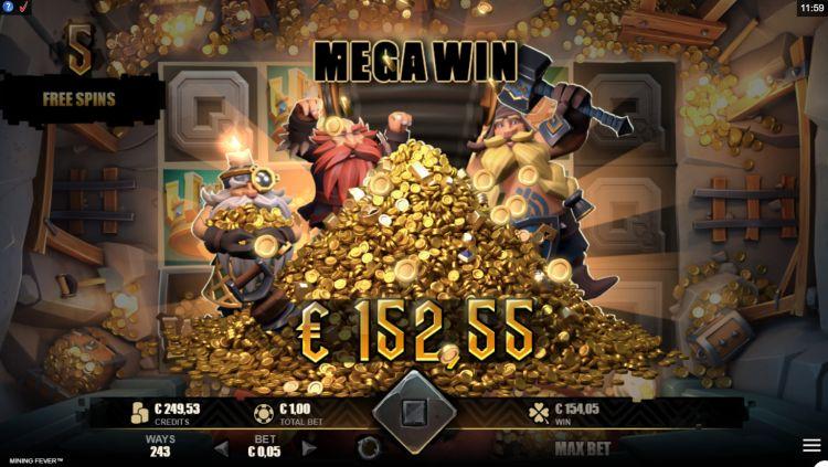Mining Fever slot review Rabcat mega win