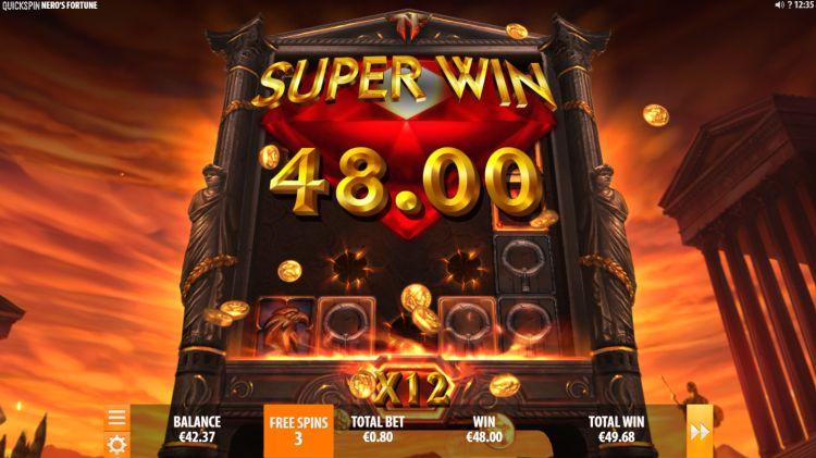 Nero's Fortune slot review big win bonus
