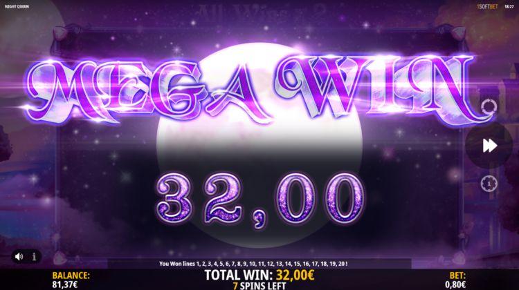 Night Queen slot review isoftbet mega win
