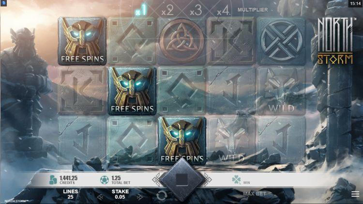 North Storm bonus trigger slot