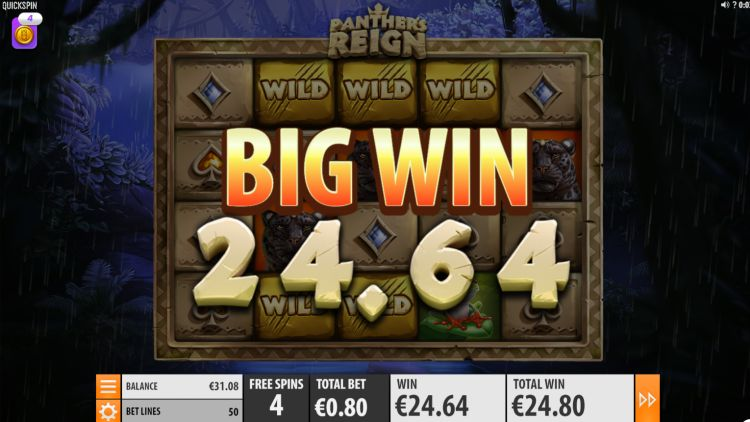Panther's Reign slot review Quickspin big win