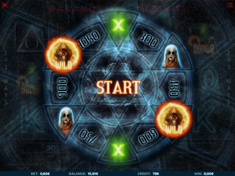 Paranormal Activity slot bonus wheel